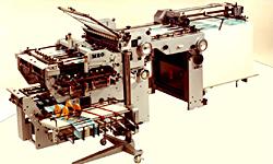 первая комбинированная фальцевальная машина MBO (Drupa 1967)