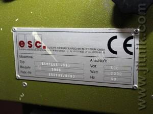 шелкотрафаретный полуавтомат ESC Simplex S 1