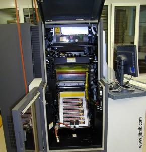 6 цветная ЦПМ HP Indigo S 2000, б/у (приемный лоток)