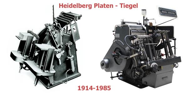 Heidelberg Platen/Tiegel (1914-1985)