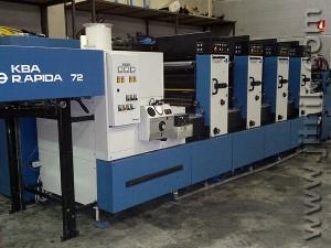 печатная машина KBA Rapida 72/4, 1997 год