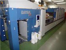 KBA Rapida RA 74-5+L ALV2/CX/UV Hybrid, 2006 год выпуска