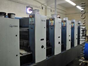 гибридная печать KBA Rapida 74-5+L CX ALV2, 2002 год