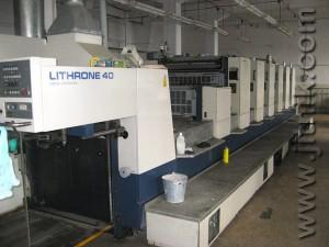 печатная машина Komori Lithrone 640+L, 1998 год
